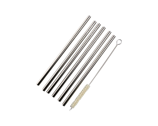 Save Planet A Stainless Steel Thick Drinking Straws 4pk