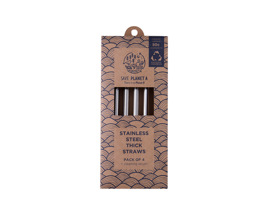 Save Planet A Stainless Steel Straw & Brush Set