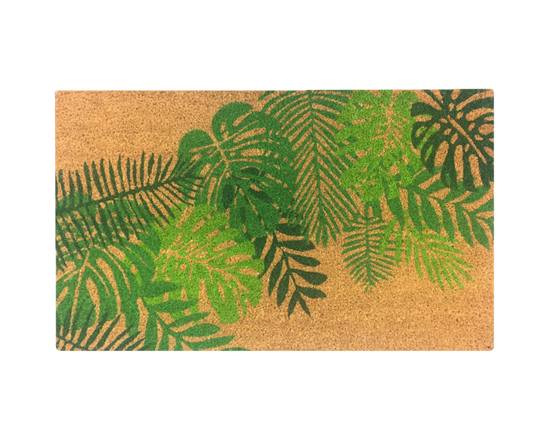 General Eclectic Doormat Tropical Leaf