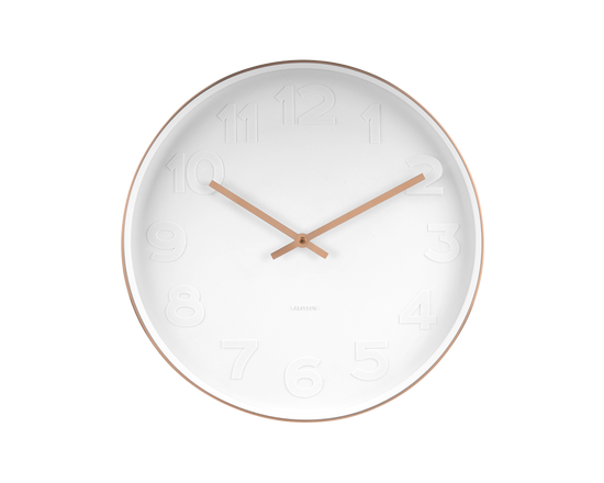Karlsson Mr White Wall Clock Copper