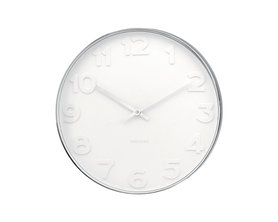 Karlsson Mr White Wall Clock White