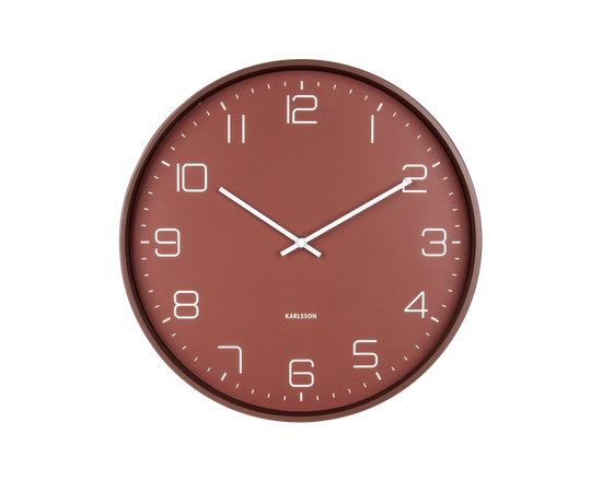 Karlsson Lofty Wall Clock Matt Warm Red