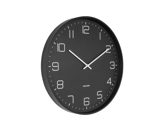 Karlsson Lofty Wall Clock Matt Black