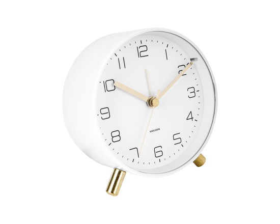 Karlsson Lofty Alarm Clock White
