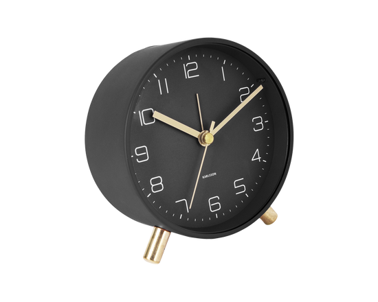 Karlsson Lofty Alarm Clock Black