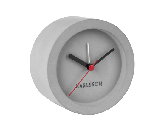 Karlsson Tom Alarm Clock Concrete