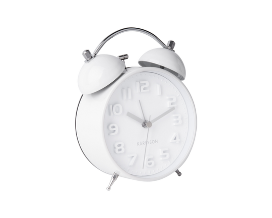 Karlsson Mr White Alarm Clock White