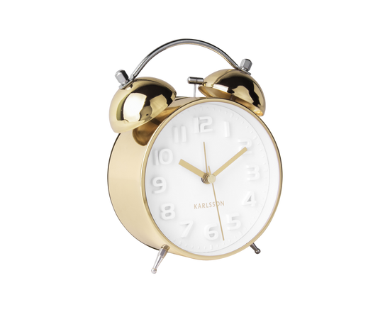 Karlsson Mr White Alarm Clock Gold