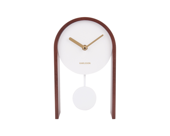 Karlsson Smart Pendulum Table Clock Dark Wood