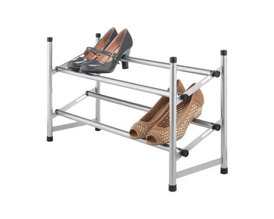 Whitmor Expandable and Stackable Shoe Rack Chrome