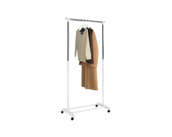 Whitmor Adjustable Garment Rack White Chrome