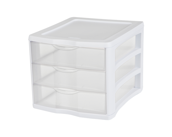 Sterilite 3 Drawer Organiser Large White