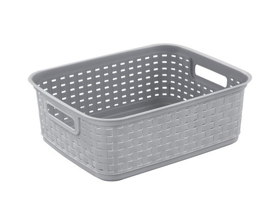 Sterilite Short Weave Basket Grey