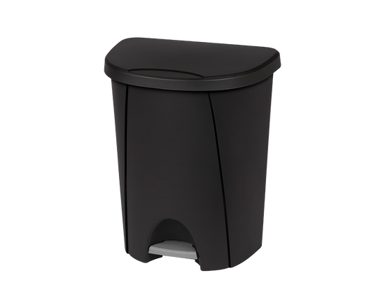 Sterilite Step on Tidy Rubbish Bin 25L Black