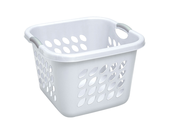 Sterilite Square Laundry Basket 53L White