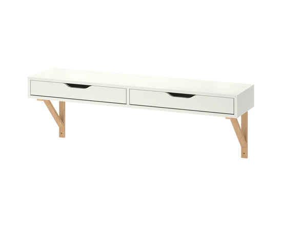 IKEA EKBY ALEX Shelf With Drawer White