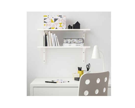IKEA BURHULT Wall Shelves White