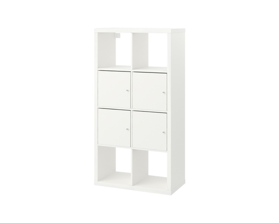 IKEA KALLAX Shelving Unit with Doors White