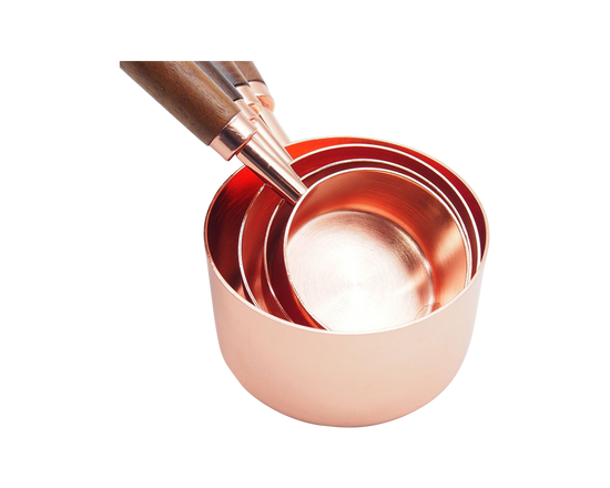 Stainless Steel Measuring Cup Wooden Handle