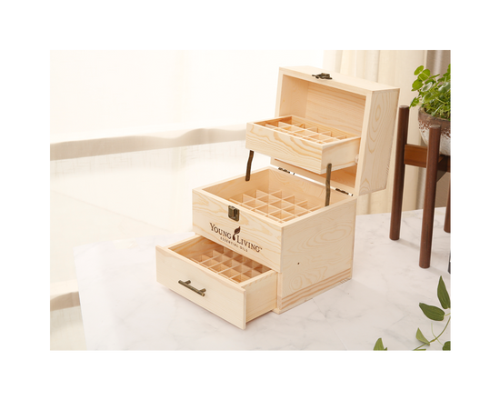 64 Slot Essential Oil Wooden Box