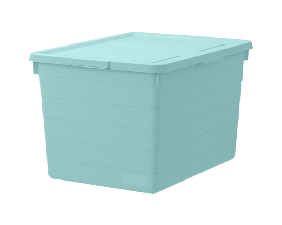IKEA SOCKERBIT Storage Box With Lid Light blue 38x51x30cm