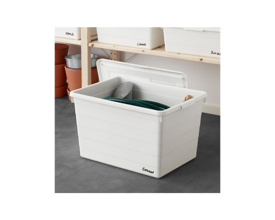IKEA SOCKERBIT Box With Lid White (Buy 1 Get 1 Free)