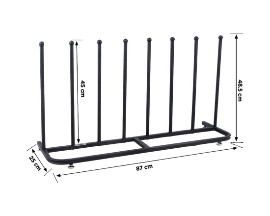 Four-Pair Metal Boot Stand