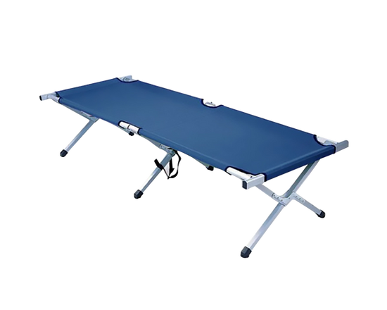 Camp Stretcher Bed Blue