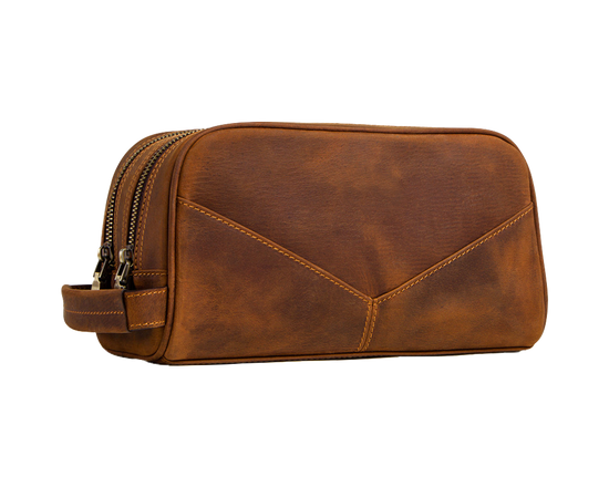 Men  Leather Toiletry Bag