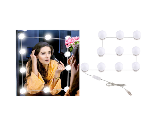 10-Piece Vanity Mirror Light Bulbs