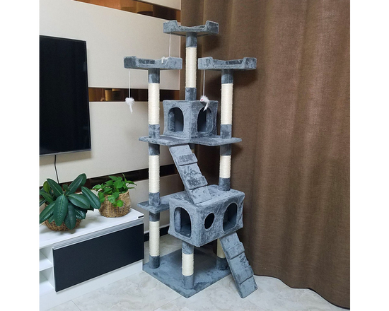 Cat Scratching Post 1.7m Dark Grey