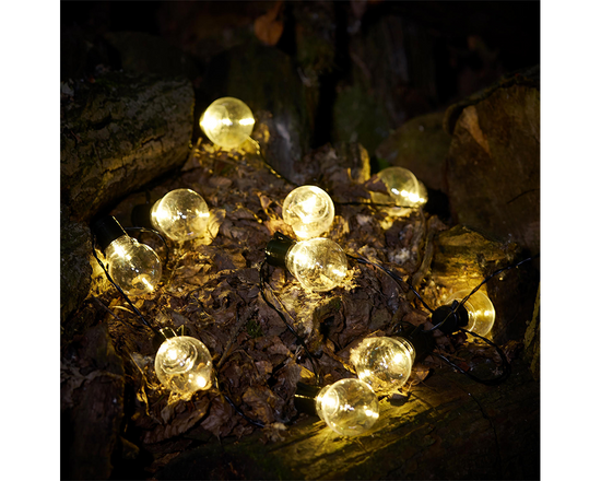 10 LED Solar Retro Bulb String Lights