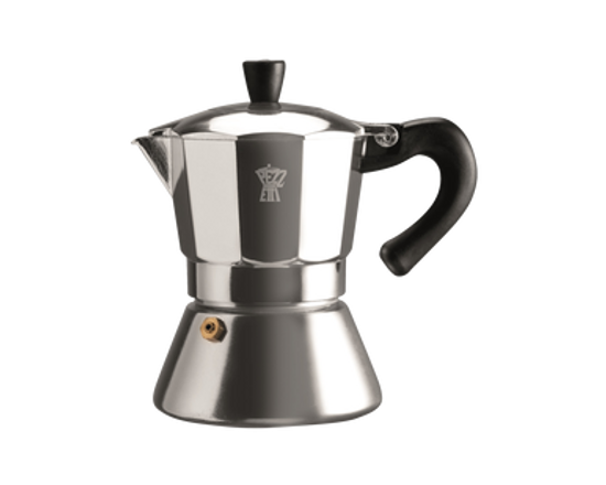 Pezzetti Bellexpress Induction Espresso Maker 6 Cup Silver