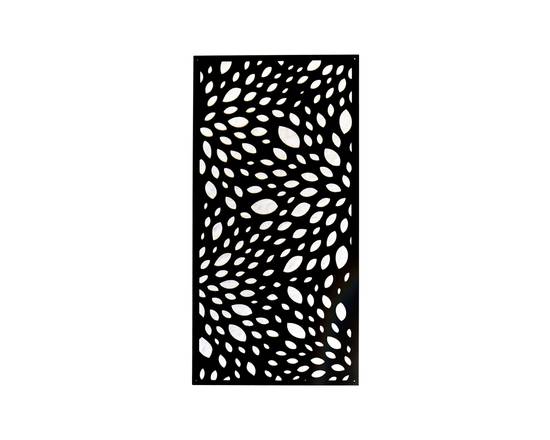 Garden Decorative Fence Panel Black Spotty Csp02