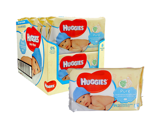 3x Huggies Baby Wipes 56pk