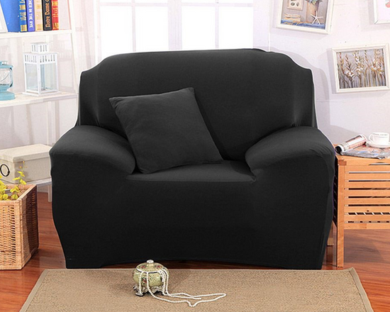 1 Seater Sofa Cover Black