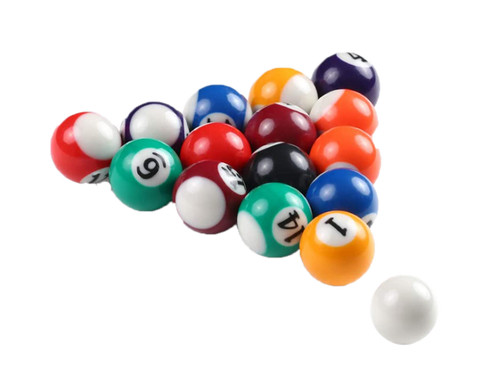 Standard Billiard Pool Balls