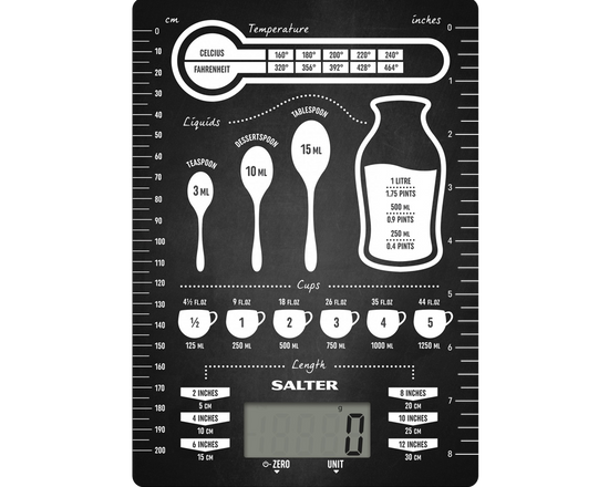Salter Conversion Table Kitchen Scale