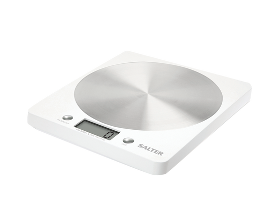 Salter Disc Electronic Kitchen Scale White