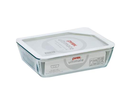 Pyrex Ultimate Rectangular Food Storage Container 1.5L White