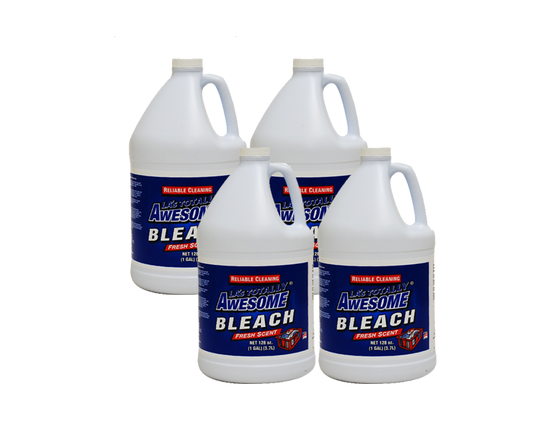 4 pk LA's Totally Awesome Bleach Fresh Scent 3.7L