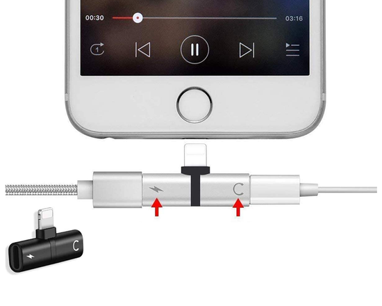 2pk 2in1 Dual Iphone Lightning Adapter & Splitter
