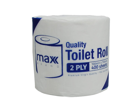48x Max Brand Toilet Tissue Single Roll