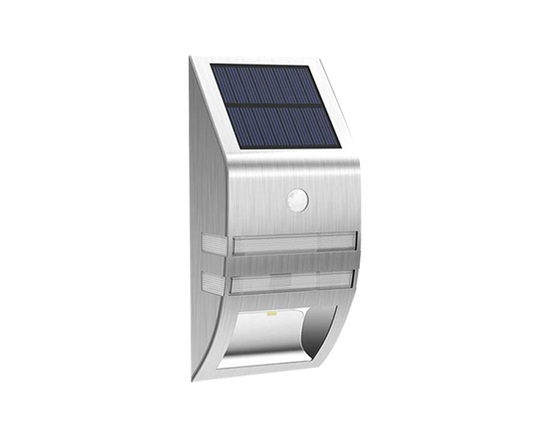 Solar Motion Sensor Light Silver