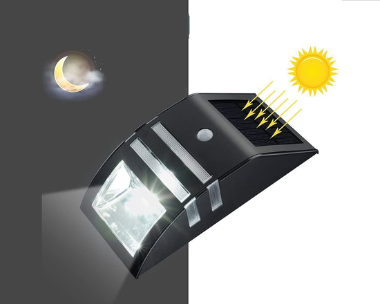 Solar  Sensor Light Black