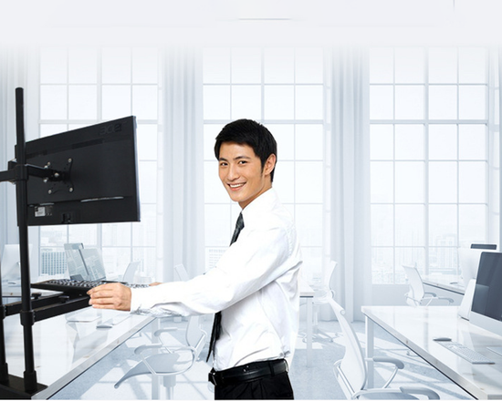 Single Monitor Sit Stand Workstation
