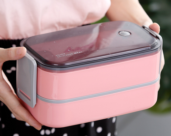 Steel Bento Lunch Box Pink