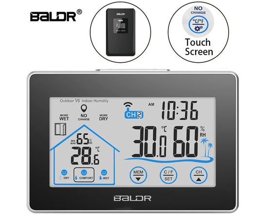 Touch screen LCD weather station