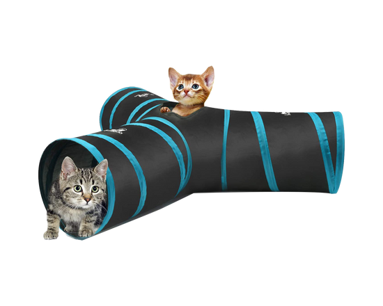 Cat Play T-shaped Tunnel
