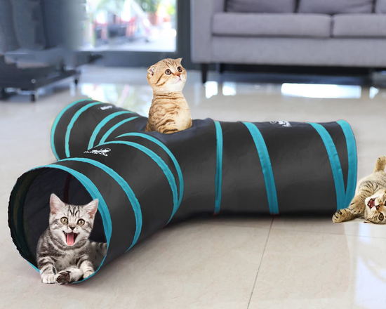 T-shaped  Cat Play Tunnel